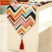 European Modern Fashion Stripe Color Bed Flag Table Runner Runners Home Textile High Quality