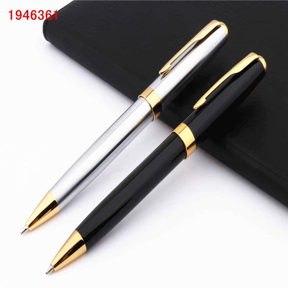 Luxury high quality Baoer 388 Black for stainless steel Business office school supplies Ballpoint Pen Golden Clip New