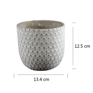 Image 2 - Round Mold Silicone Concrete Planter Mould Handmade Craft Cement Flower Pot Tool
