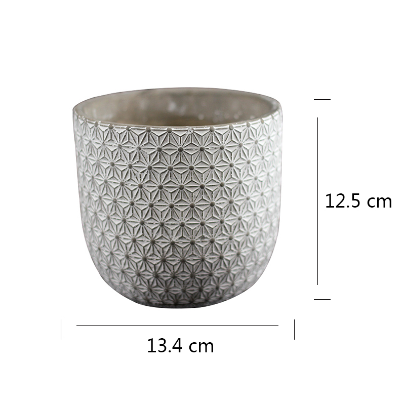 Image 3 - Round Silicone Mold Concrete Flowerpot Mould Handmade Craft Cement Planter Tool-in Clay Molds from Home & Garden