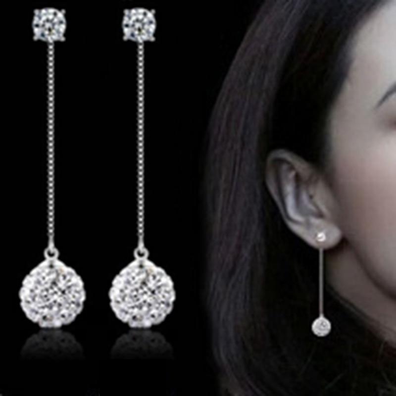 Exquisite Fashion Engagement Austrian Crystal Drop Earring Trendy Elegant Long Tassel Earrings Women Wedding Jewelry Party Gifts