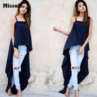 Missufe 7 Colors Sexy Strapless Camisole Women Tops Large Hem Irregular Fashion High Street Casual Top