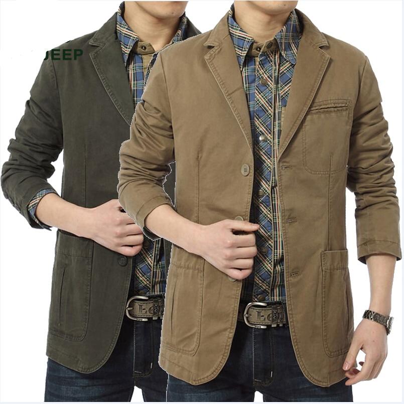 84d83aaf3d 2015 nueva moda de primavera y otoño de los hombres Chaquetas algodón  ocasional Delgado blazer más tamaño Trajes chaqueta Outwear marca
