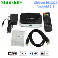 RK3299 Shinsklly CS918 Smart TV Box Android 5.1 Quad Core RAM 2 GB + ROM 8G WIF 2.4G HDMI Full HD 4 K KODI Odtwarzacz Multimedialny Dekoder Box