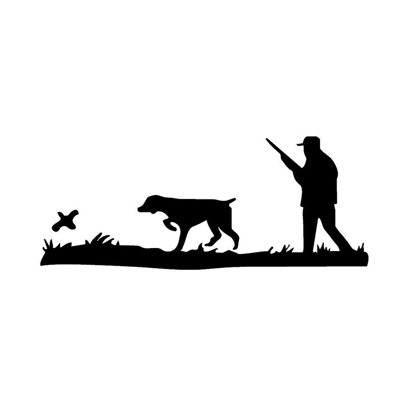 17 4 7 2CM Interesting Hunter Hunting Quail Car Decals Motorcycle Sticker Covering The Body Shape