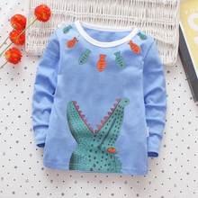 Girls Boys T Shirt Crocodile Letter Print Long Sleeves T-shirt Tops 2018 Autumn Toddle Infant Baby Clothing Shirt Tees 1030(China)