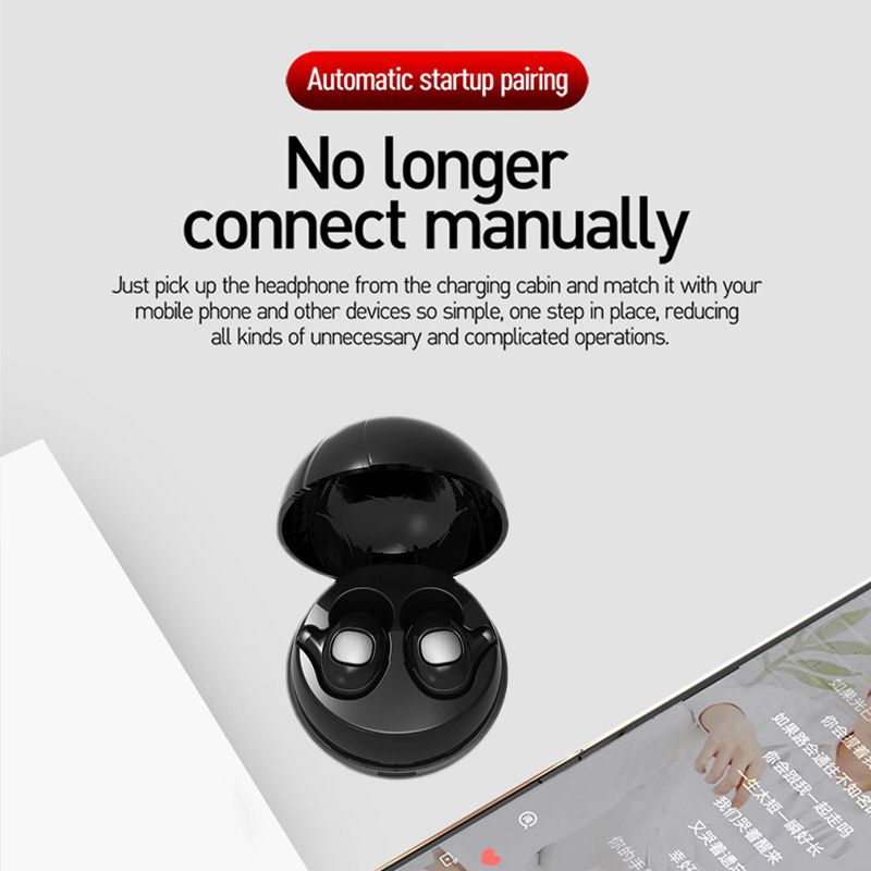 Mini Bluetooth Earphone TWS In-ear Stereo Sports HIFI Wireless Earbud with Charging Pod