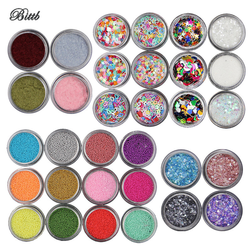 Bittb 12 Color Nail Art Decoration Laser Flash Fragments