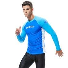 Мужская футболка, колготки, быстросохнущая, Влагоотводящая, для бега, спорта, Exceise, футболка, для фитнеса, с длинным рукавом, топ для серфинга, пляжа
