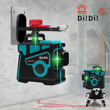 12 Lines 3D Laser Level Self-Leveling 360 Horizontal And Vertical Cross Super Powerful Green Laser Beam Line - DISCOUNT ITEM  47% OFF All Category