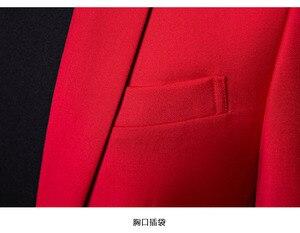 Image 5 - PYJTRL marka męska Casual czerwony garnitur kurtka ślubna Slim Fit mężczyźni Blazer kostiumy sceniczne dla piosenkarki kostium Homme