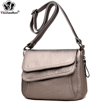 Famous Brand Leather Crossbody Bags for Women Fashion Shoulder Bag Female Luxury Designer Messenger Bags for Women Sac A Main цены