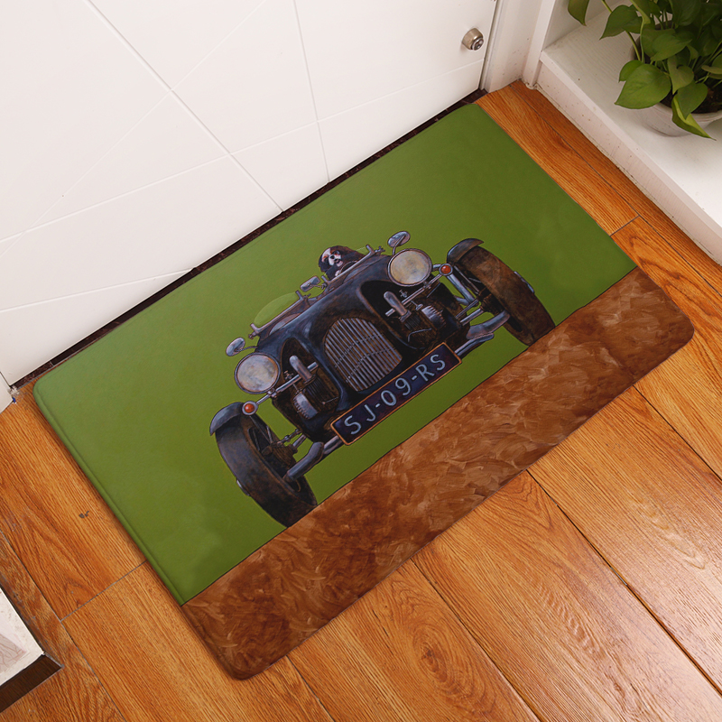 Cartoon Flanell Teppich Stick Die Hund Druck Matte Für Wohnzimmer 40x60 cm 50x80 cm Tür matte Rechteck Tapete