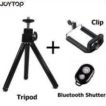 JOYTOP 3+1 Mini Tripod With Phone Holder + Clip + Bluetooth Shutter for iPhone X Smartphone Canon Nikon Gopro Hero DSLR Camera