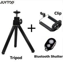 JOYTOP 3 + 1 ترايبود صغير مع حامل هاتف كليب غالق بلوتوث ل فون X الهاتف الذكي كانون نيكون Gopro بطل DSLR كاميرا