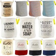 Einzigartige Faltbare Baumwolle Leinen Waschen Wäschekorb Kleidung Tasche Hamper Lagerung