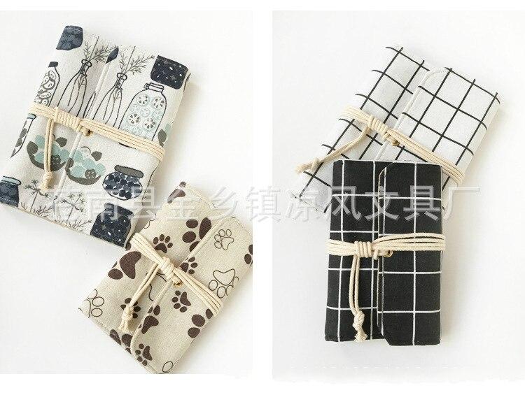 Harphia A5 A6 Linen Fabric Spiral Binder Notebook Kawaii Agenda Notepad Cloth Material Journal spiral tie dye cloth art
