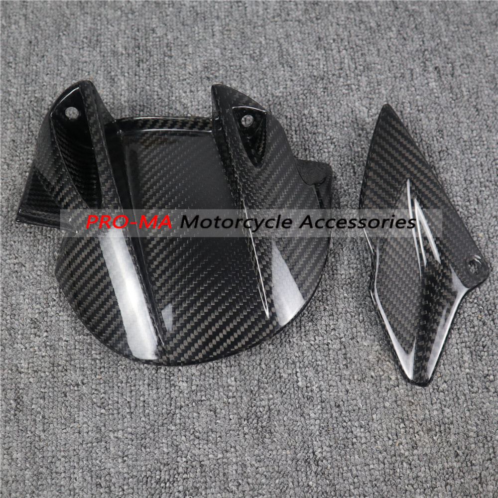 Motorcycle Rear Hugger in Carbon Fiber for Aprilia Dorsoduro 750 900 1200 Twill glossy weave