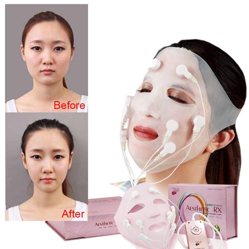 Carga de cara máscara quitar las arrugas Chin elevación de mejillas masaje vibración máscara de rejuvenecimiento de la piel masaje de belleza en spa dispositivo