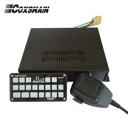 (NMS400W) صفارات الشرطة السيارات الإلكترونية مع وظيفة الذاكرة ، 7 مفاتيح 400 واط سيارة سنويا ، 6 نغمات (صفارة فقط)
