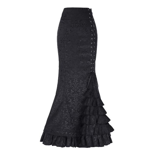 Belle Poque Sexy cintura alta volantes falda lápiz Maxi mujeres oficina  trabajo Falda larga Jacquard vends e30f8ff879e4