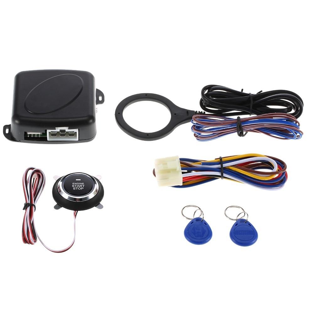 Bouton de démarrage du moteur de voiture bouton de démarrage RFID système d'allumage sans clé
