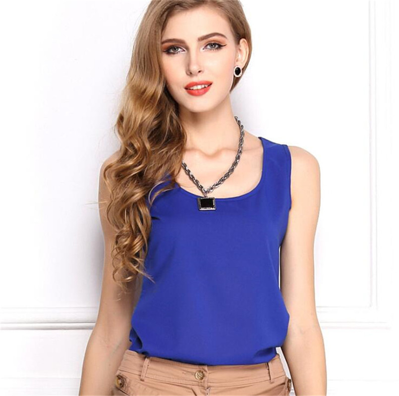 Plus Size Vest Thin Chiffon Tank Top Women Summer Sleeveless Shirt Sexy Camis Loose Casual Female Tops Blouse Ladies Clothing