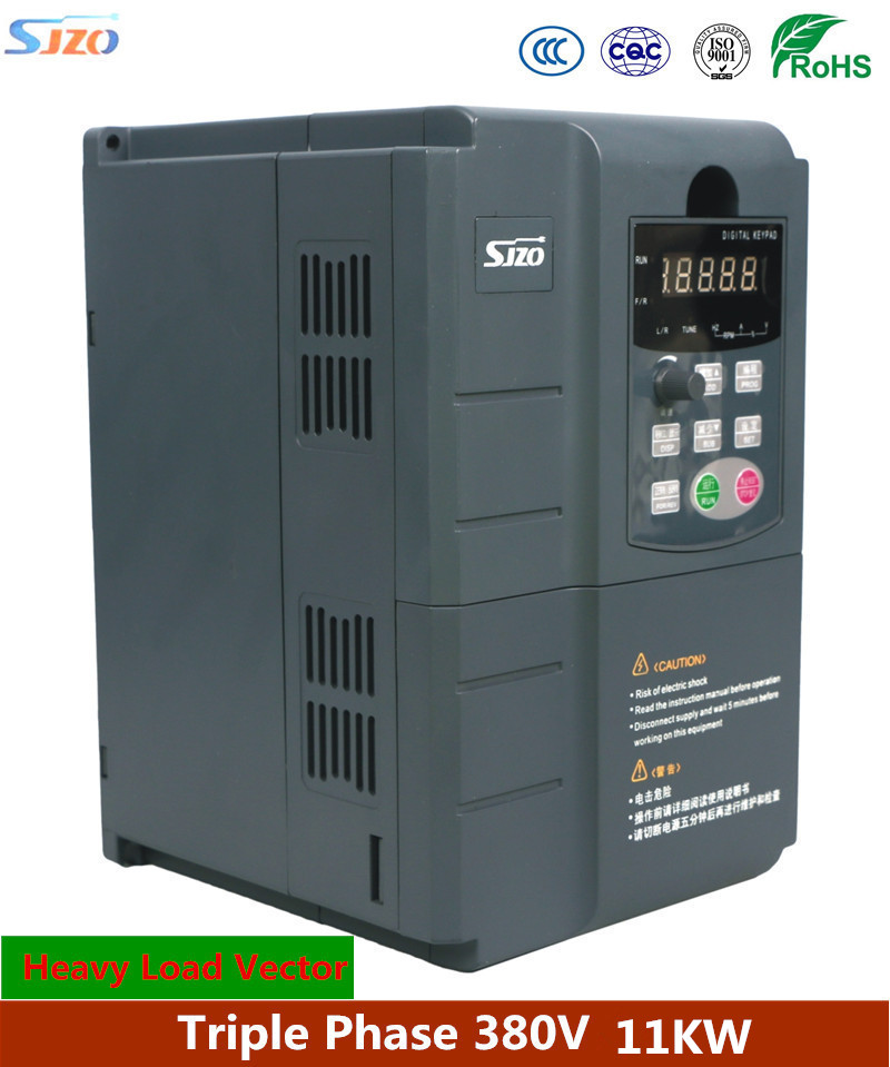 цена на SJZO 511 Series Frequency Inverter 380V 11KW 3 Phase Vector VF control VFD Variable Speed Drive 3 Phase Torque Motor Controler