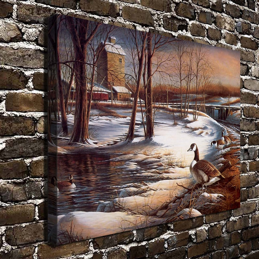 T257  Terry Redlin] art deco painting on canvas. HD Canvas Print Home decoration Living Room bedroom Wall pictures Art painting