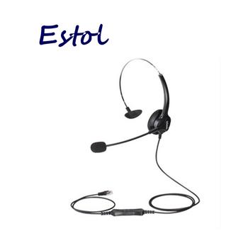 HD voice Hion For600 RJ9 kryształ QD kabel monofoniczny pojedyncze ucho zestaw słuchawkowy dla call center słuchawki do telefonu telefon VoIP słuchawki tanie i dobre opinie Uxeitoo black RJ9 3 5 mm Noise Cancelling corded Monaural