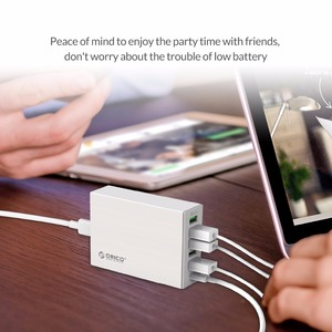 Image 3 - ORICO QC2.0 Desk Charger 6 Ports USB Phone Fast Charger with 3.1A Type c Charging Port for Mobile Phone Tablet