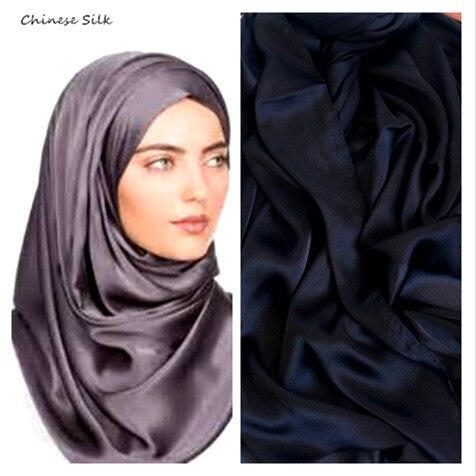 Hot Sale Fashion Women Solid Color Silk Scarf Muslim Hijab Plain Scarves Shawls Elegant Simple Oversize Good Quality 10pcs/lot