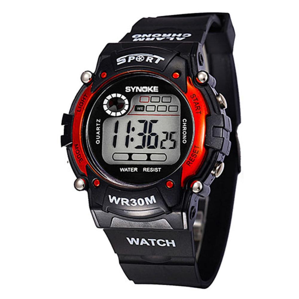 Waterproof Elektronik Multifungsi Olahraga Wrist Watch Untuk Anak Anak Laki-laki LED Digital Relojes Men