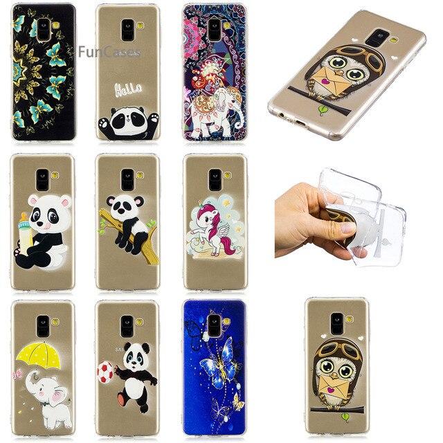 Cute Unicorn Phone Case sFor Funda Samsung A8 2018 Soft TPU Back Cover Aksesuar Squishy Cellphone Case For Samsung Galaxy A530