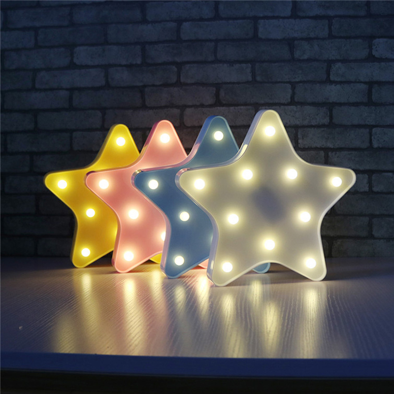 Newest Kids Favorite Star Starfish LED Night Light Colorful Bedroom Home Decor Battery Powered Wireless Wall Lamp lua luminaria diy cinematic lightbox led night light box modern table desk lamp a4 size letters number battery usb powered home decor iy303206 page 5