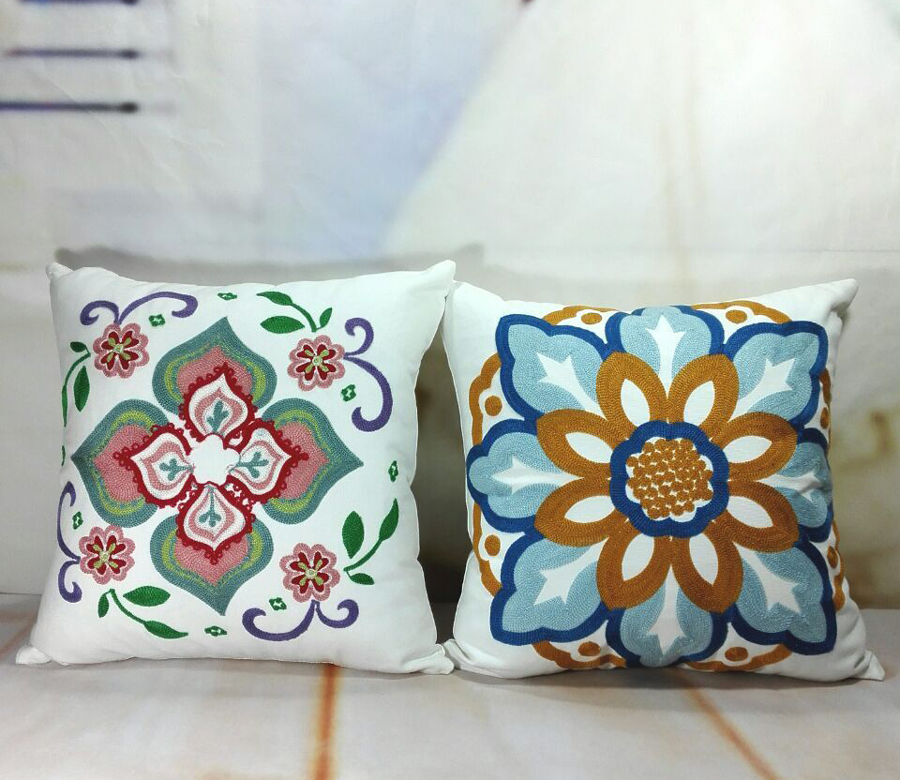 How To Make Throw Pillow Covers By Hand : Popular Hand Embroidered Pillow Covers-Buy Cheap Hand Embroidered Pillow Covers lots from China ...