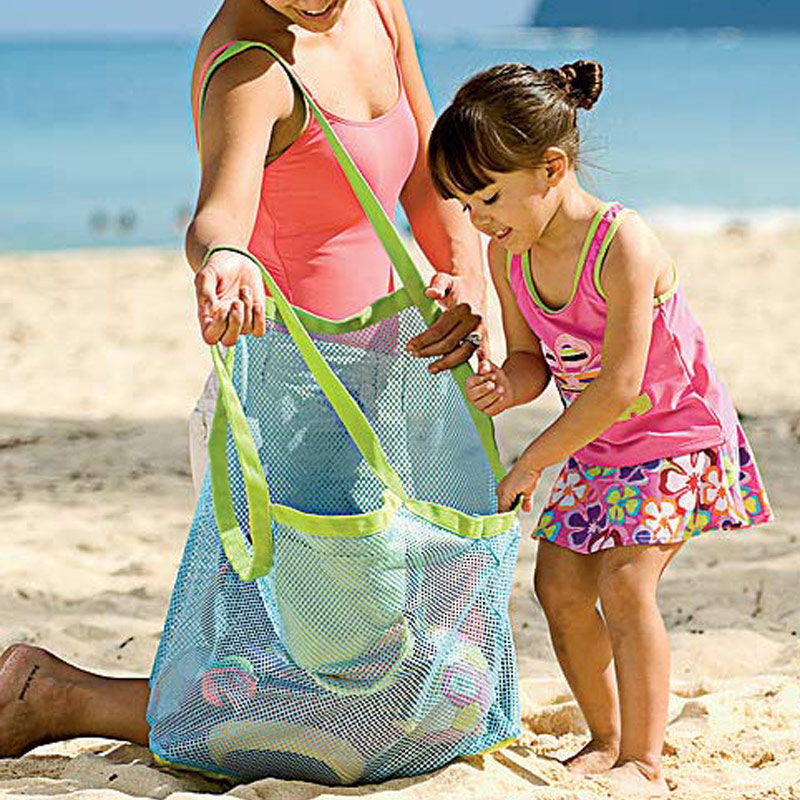2019 Summer Hot Mom Baby Beach Bags Women Kids Mesh Messenger Bags Toy Tool Storage Handbag Pouch Tote Children Shoulder Bag