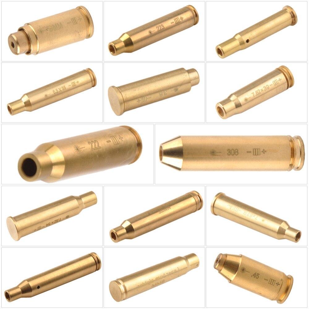38 פליז Red Dot לייזר Boresight CAL Cartridge נשא Sighter 9mm ציד היקף 0.308 0.223 6.5x55 0.38 7.62x39 7.62x54 0.300 7x57R B4 (2)
