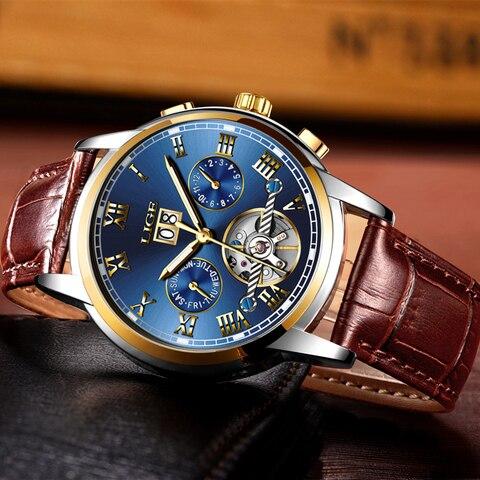 LIGE Mens Watch Top Brand Luxury Automatic Mechanical Watch Men Clock Tourbillon Waterproof Sport Watches Relogio Masculino gift Karachi