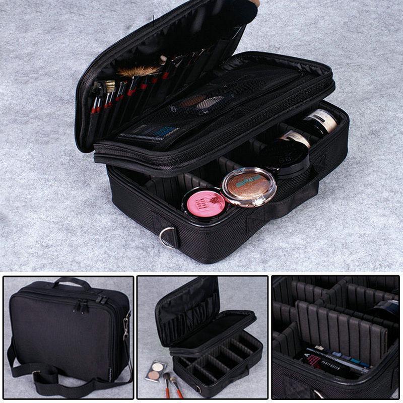 New Professional Cosmetic Bags Waterproof Makeup Storage Suitcase Jewelry Bags картины в квартиру картина sunrise 35х77 см