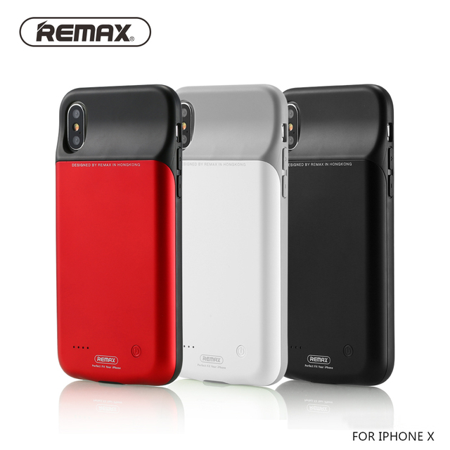 wholesale dealer b8324 d0d65 US $32.14 5% OFF|Remax 3200mAh Battery Charger Case For iPhone X Soft TPU  ABS Portable Power Bank Case External Backup Charging Case Cover-in Fitted  ...