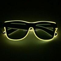 30 oieces EL Провода светящиеся Очки для карнавала Праздничное освещение украшения неоновые холодный свет Очки с темными объектива