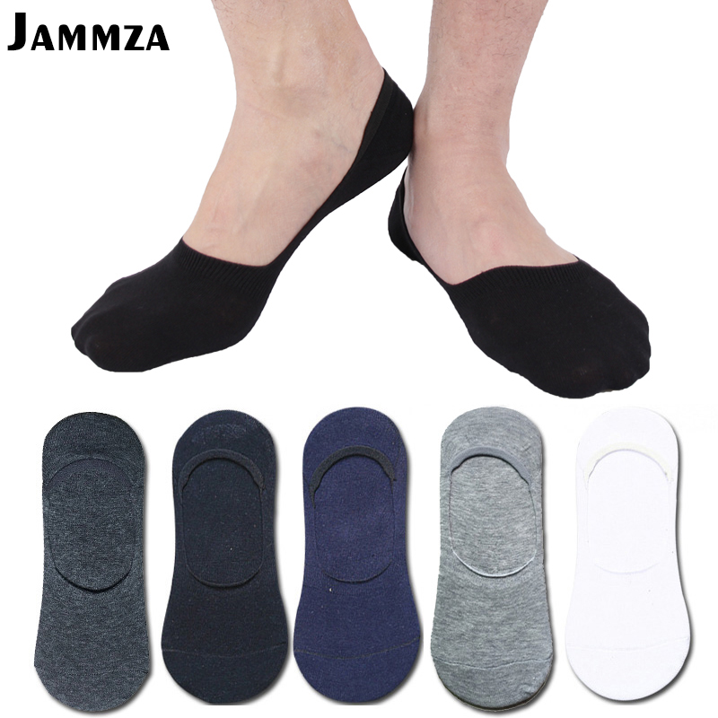 New Summer Cotton Invisible   Socks   for Men Business Casual Non-slip high quality Breathable Solid No Show Black White Sporty   sock