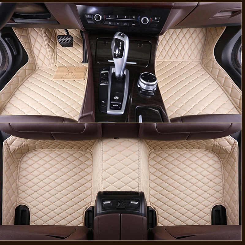 車のフロアマットフォード escort fiesta モンデオフォーカスフィエスタエッジエク牡牛座 S-MAX F150 エベレストマスタングカスタム accessorie 足
