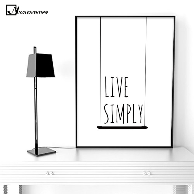 NICOLESHENTING Motivational Life Quote Poster Prints Minimalist Wall Fascinating Life Quote Poster