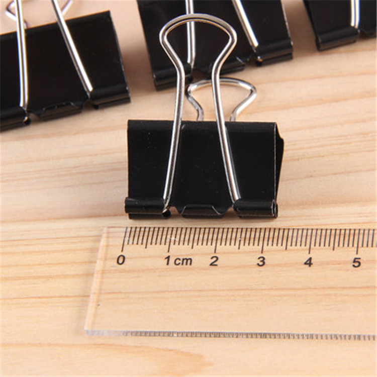 700 Pcs 32mm Black Large Metal Binder Clips Paper Clip Office Supplies For Notes Letter Paper Books Office School Paper