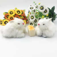 2pcs/9cm Simulation Rabbits Plush White Rabbit Stuffed Toys Dolls Soft Kids Toys Christmas Gifts