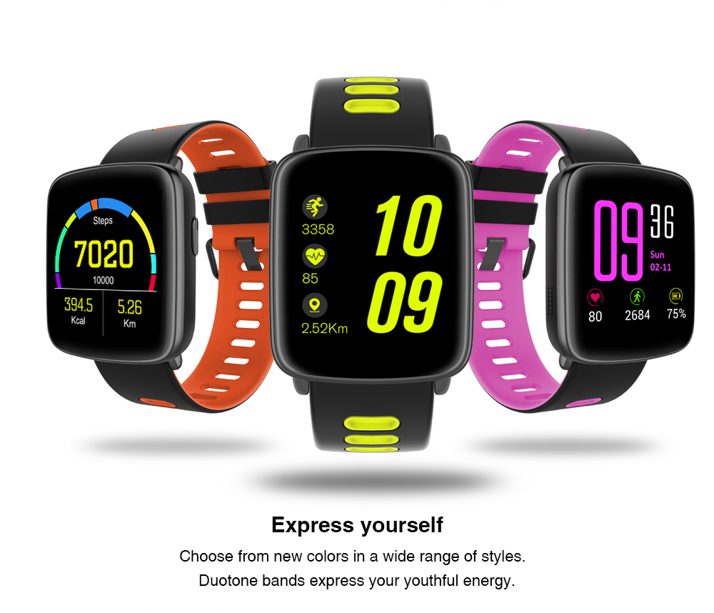 Kingwear Bluetooth Waterproof Smart Watch GV68 support Heart Rate Monitor Pedometer Remote control camera IP68 sports