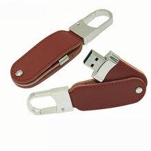 100pcas/lot Leather USB2.0 flash drive 4gb 8gb 16gb 32b Pen drive usb memory stick micro usb with Key Chain print logo