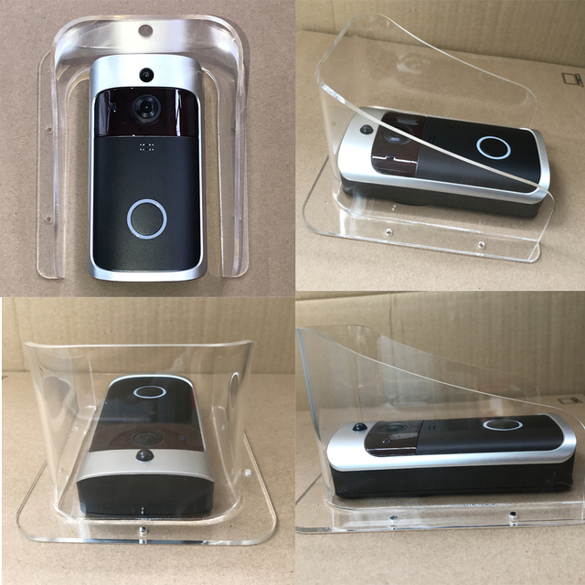 Osłona przeciwdeszczowa uniwersalny typ wizjer wbudowaną kamerą WI-FI wodoodporna pokrywa dla Smart IP wideodomofon bezprzewodowy dostęp do internetu wideo telefon drzwi dzwonek do drzwi cam